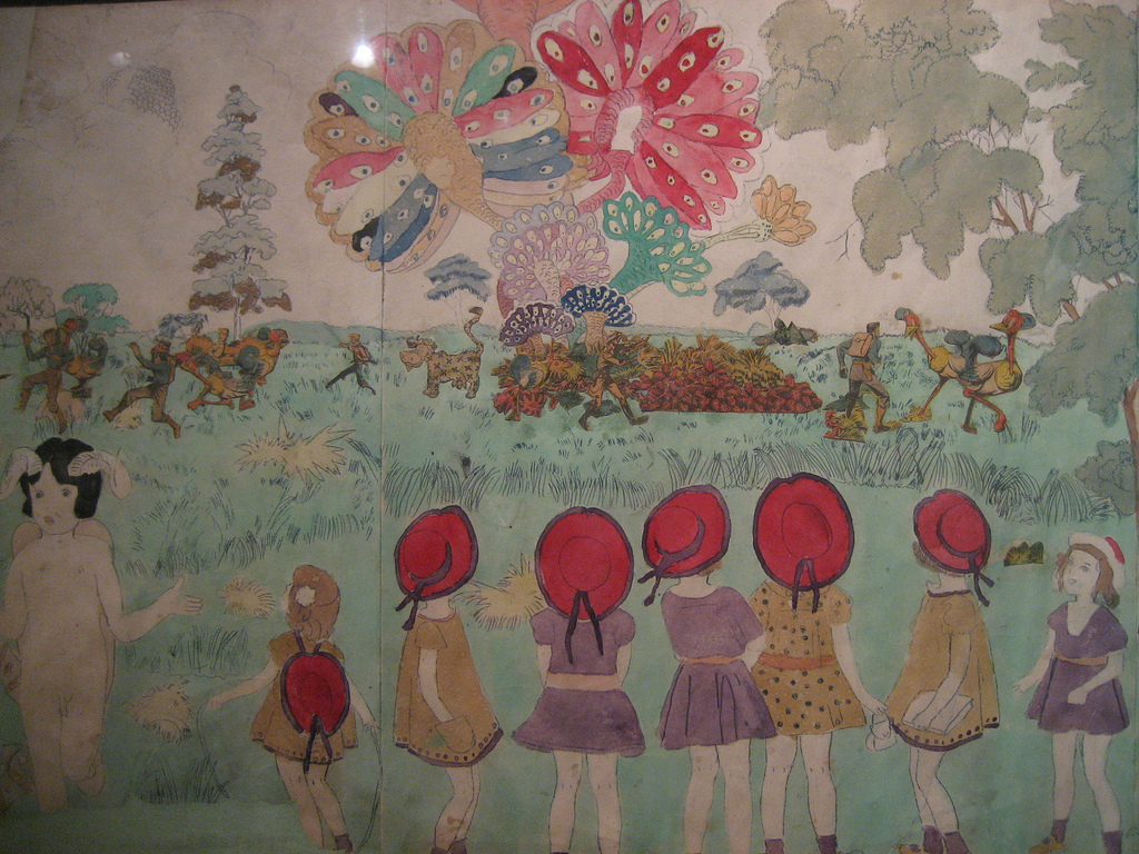 "La Collection de l'Art Brut, les ""Vivian Girls"" d'Henry Darger."