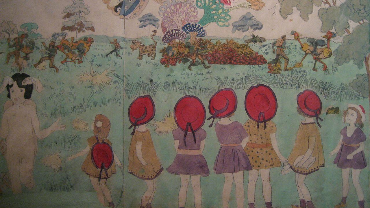 """La Collection de l'Art Brut, les """"Vivian Girls"""" d'Henry Darger. [Flickr]"""