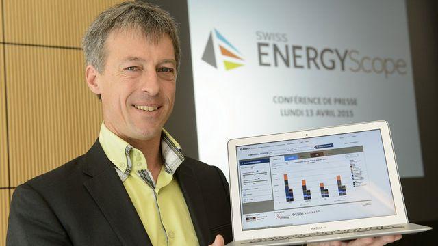 François Vuille, directeur du développement au Centre de l'énergie de l'EPFL. [Jean-Christophe Bott - Keystone]