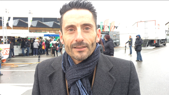 Daniel Atienza livre son analyse pour la 3e étape. [F.Galaud - RTS]