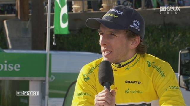 4e étape, Domdidier - Leysin, 163,5km: l'interview du gagnant Simon Yates (GBR) [RTS]