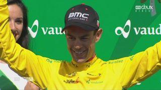 Tour de Romandie 5e étape: la joie de Primoz Roglic (SLO) et de Richie Porte (AUS), vainqueur du général [RTS]