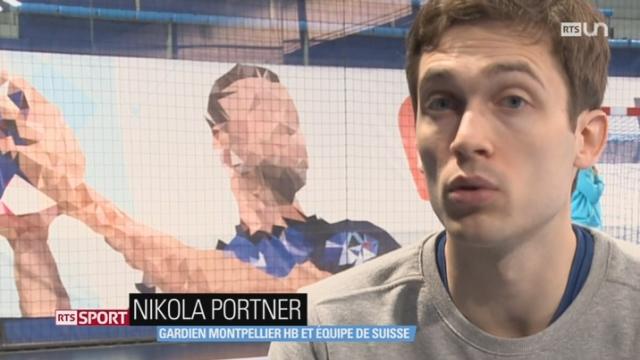 Handball: Nikola Portner est l'un des principaux atouts de l'équipe de Suisse dans les éliminatoires du Championnat d'Europe [RTS]