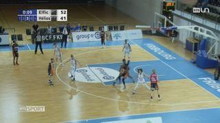 Basketball: Elfic bat Hélios (74-51) dans le premier match de la finale dames + tableau des playoffs messieurs [RTS]