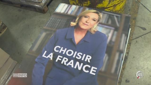 Présidentielles françaises: Marine Le Pen tente de normaliser l'image de son parti [RTS]