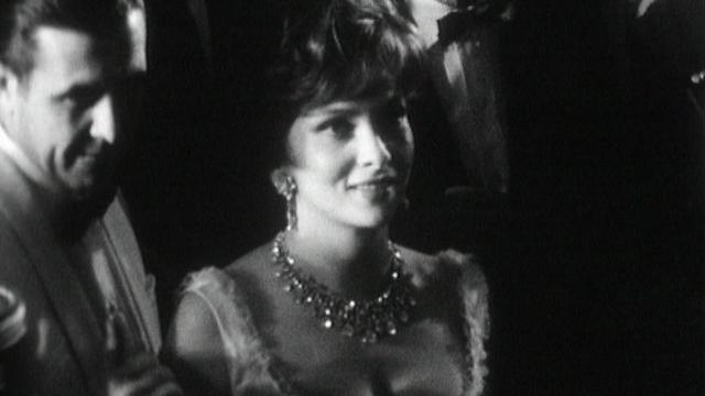 Gina Lollobrigida à Cannes en 1961. [RTS]