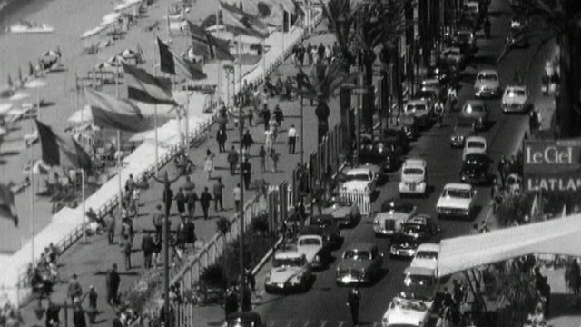 Cannes au temps du festival, 1961. [RTS]