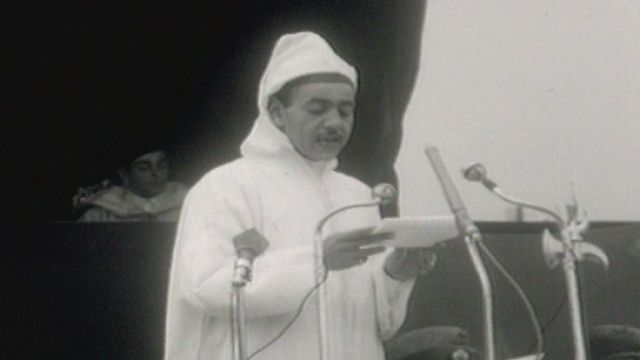 Discours du roi Hassan II à Rabat en 1962 [RTS]
