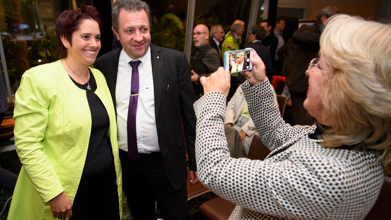 Isabelle Chevalley et Jacques Nicolet pris en photo par Jacqueline de Quattro. [Laurent Gillieron - Keystone]