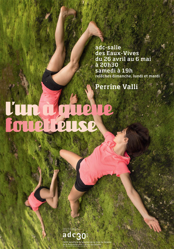 "Affiche du spectacle ""L'un à queue fouetteuse"" de Perrine Valli."
