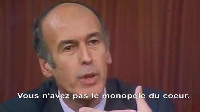 """Le """"monopole du coeur"""", la réplique culte de Giscard D'Estaing à Mitterrand. [RTS]"""