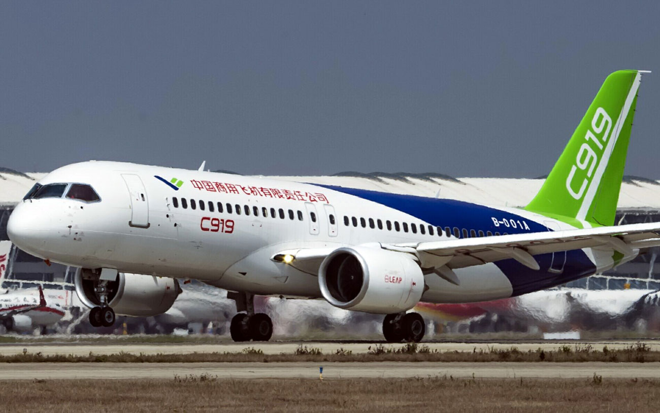"Le premier avion de ligne ""made in China"",  le C919, est construit par l'avionneur Comac."