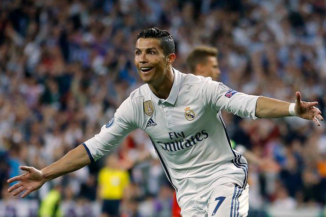 Cristiano Ronaldo a franchi la barre des 100 buts en Ligue des champions. [Francisco Seco - Keystone]