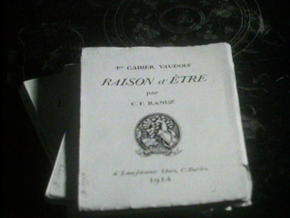 """Le manifeste """"Raison d'être"""" de Charles-Ferdinand Ramuz. [RTS]"""