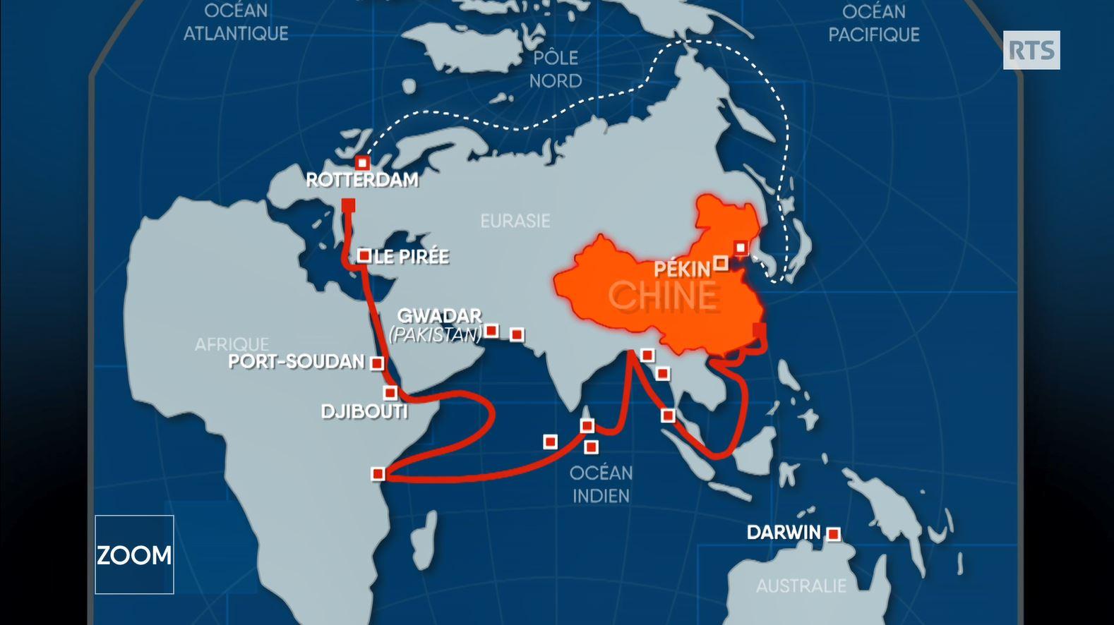 Carte Australie Chine.Pour Etre Au Centre Du Monde La Chine Renverse Ses Cartes Rts Ch