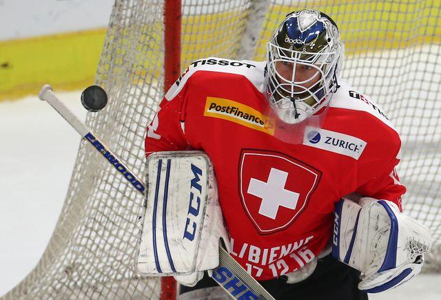 L'équipe de Suisse de hockey sur glace (ici en 2016) entame ses Mondiaux en France le samedi 6 mai 2017 contre la Slovénie.  Karl-Josef Hildenbrand/DPA AFP [Karl-Josef Hildenbrand/DPA - AFP]