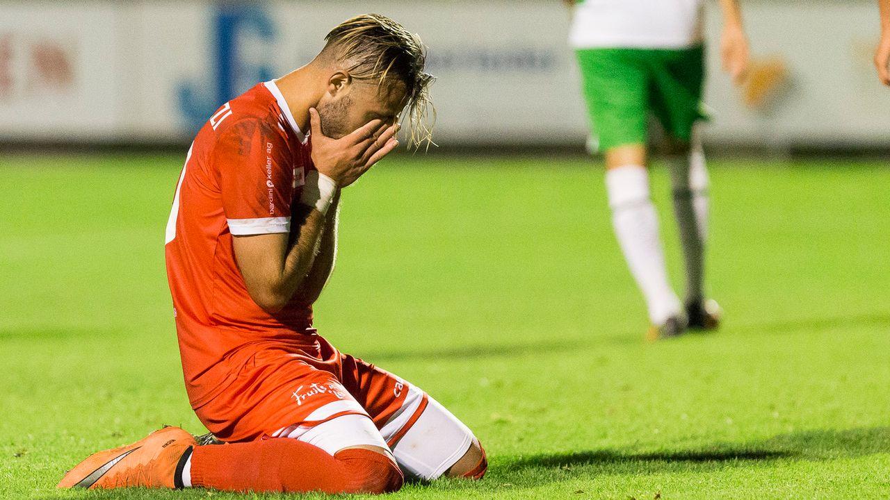 Le joueur du Le Mont Sergio Cortelezzi lors de la rencontre de la Coupe Suisse contre le FC Saint-Gall, en 2016. Cyril Zingaro Keystone [Cyril Zingaro - Keystone]