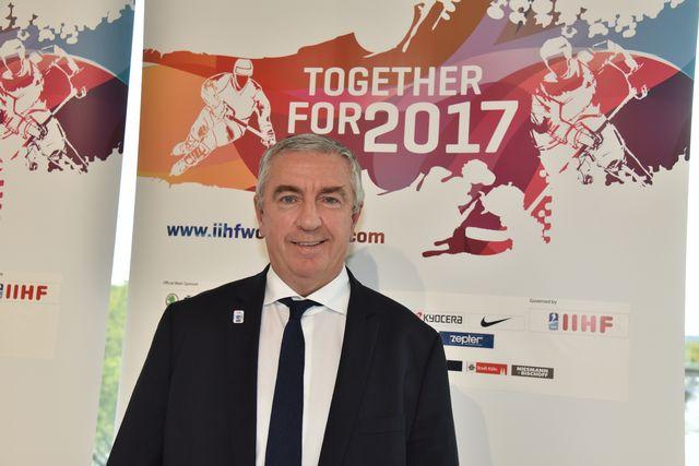 Luc Tardif, président de la Fédération française de hockey sur glace. Horst Galuschka / DPA AFP [Horst Galuschka / DPA - AFP]