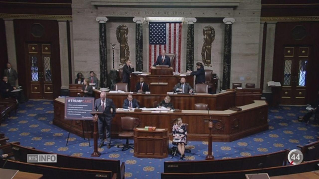USA: les députés abrogent l'Obamacare [RTS]