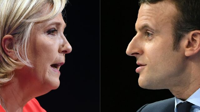 Marine Le Pen et Emmanuel Macron, deux visions opposées de la France. [afp]