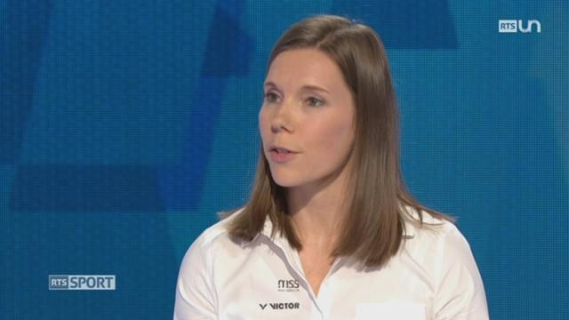 L'invitée: Sabrina Jaquet, Médaillée de bronze, Champ. d'Europe badminton 2017 (1-2) [RTS]