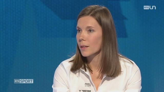 L'invitée: Sabrina Jaquet, Médaillée de bronze, Champ. d'Europe badminton 2017 (2-2) [RTS]