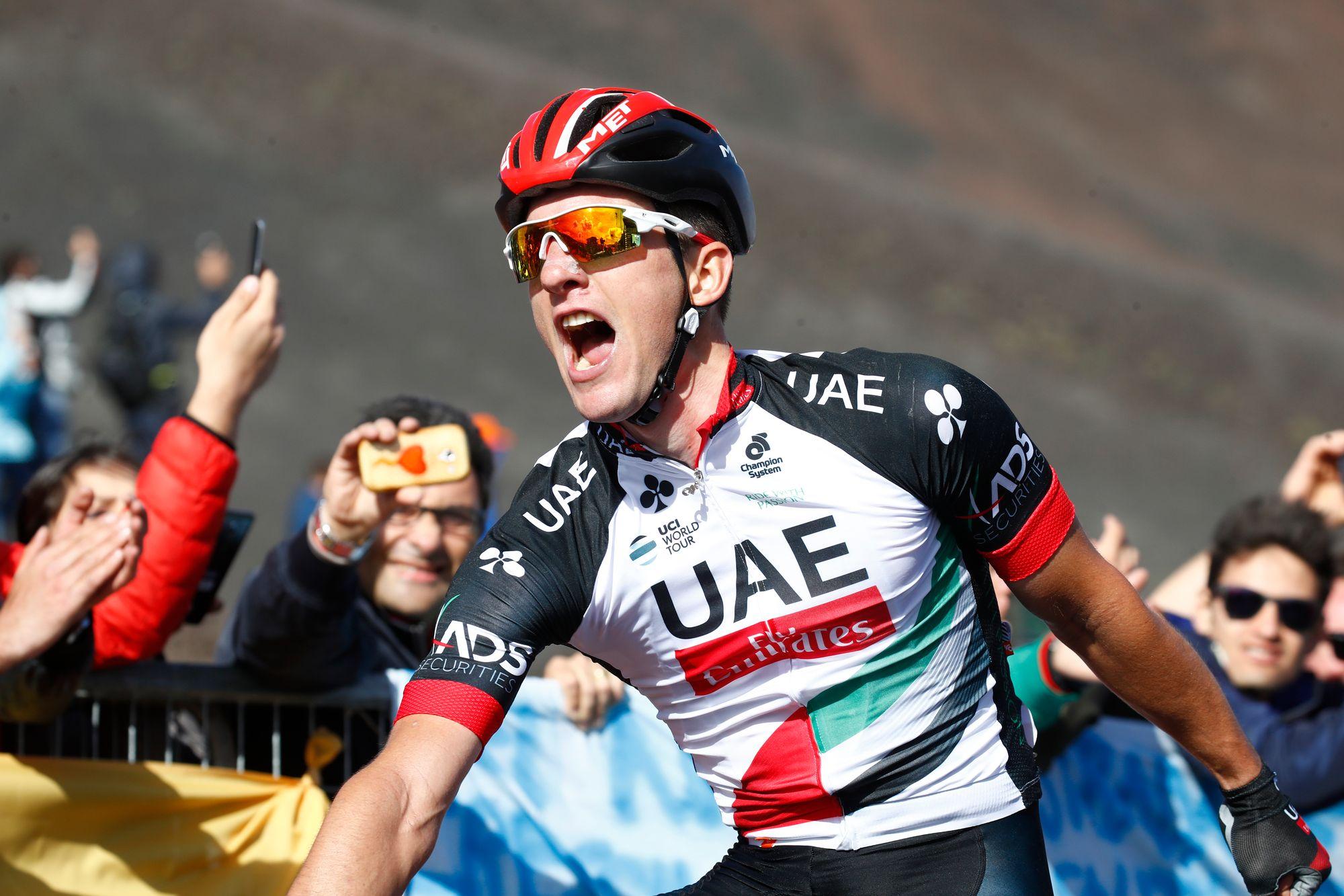 Tour d'Italie: Polanc vainqueur sur l'Etna, Jungels en rose