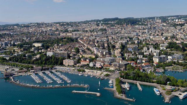 Vue du quartier d'Ouchy à Lausanne. [Laurent Gillieron - keystone]