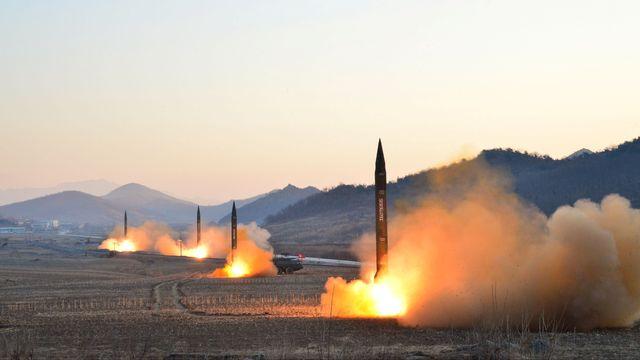 Fusées balistiques nord-coréennes (images de l'agence de presse centrale de Pyongyang). [KCNA/via REUTERS]