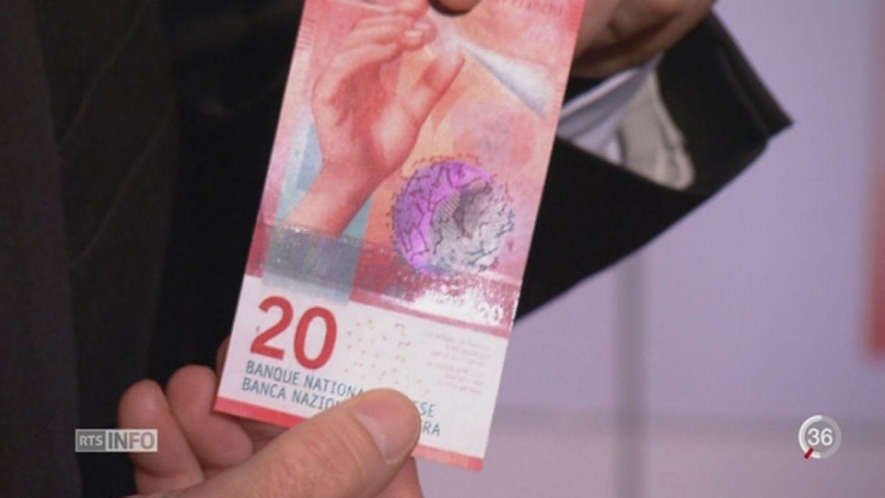 Monnaie: voici le nouveau billet de 20 francs [RTS]