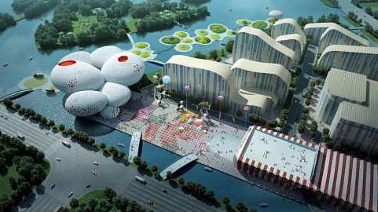 Le China Comic and Animation Museum de Hangzhou. [MVRDV]