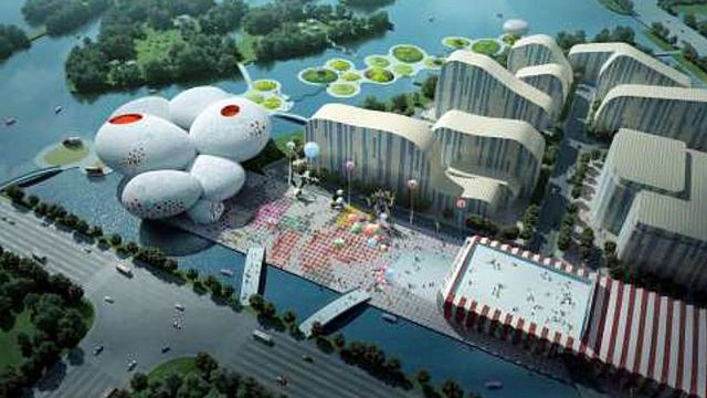 Le China Comic and Animation Museum de Hangzhou. [MVRDV]