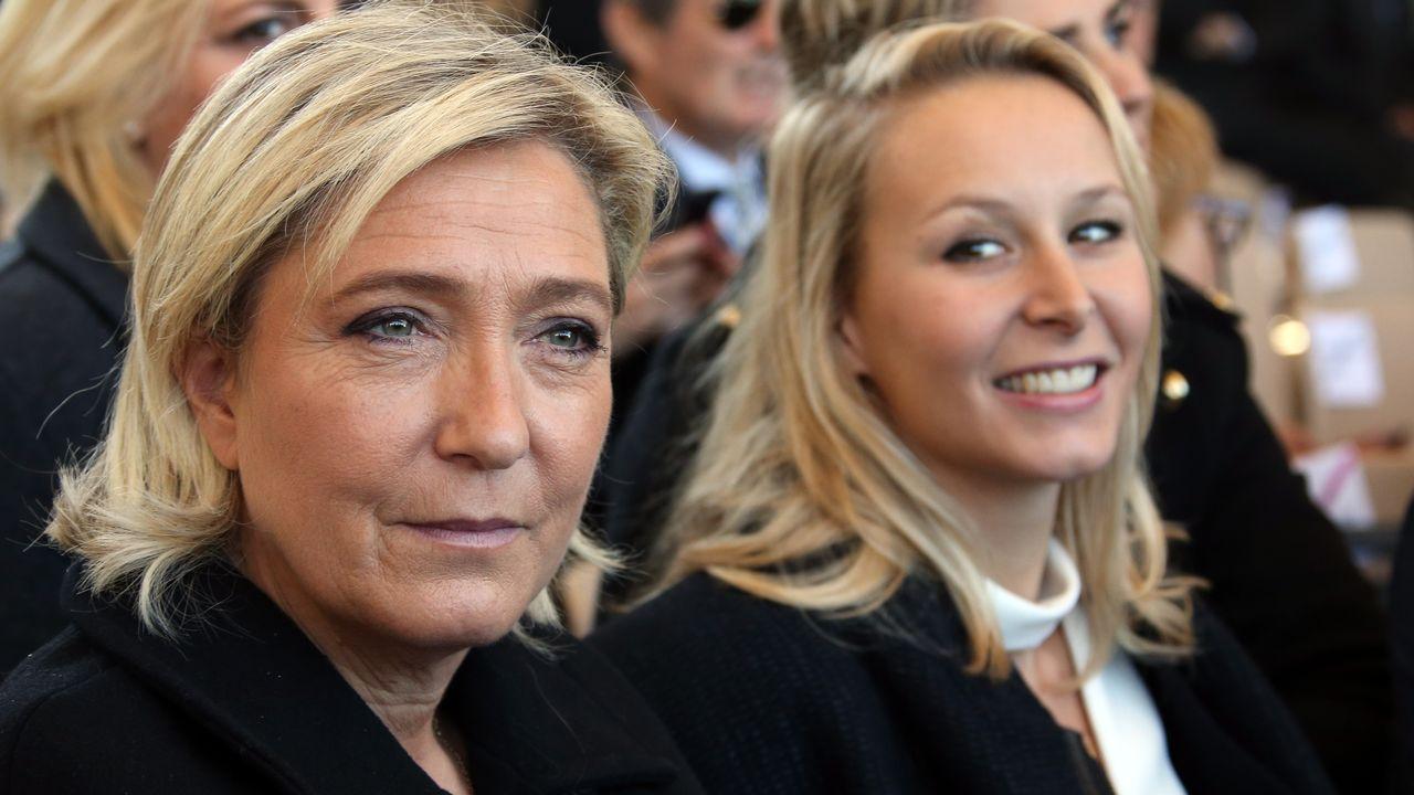 Marine Le Pen et Marion Maréchal-Le Pen en octobre 2015. [Eric Gaillard - afp]