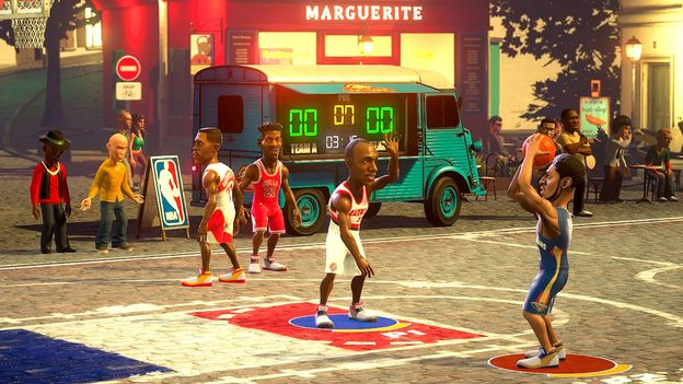 NBA Playgrounds: he's on fire