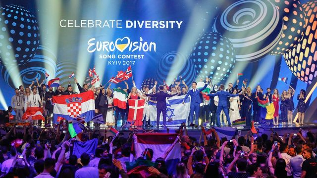 La deuxième demi-finale de l'Eurovision 2017 à Kiev, en Ukraine. [Sergey Dolzhenko - Keystone]