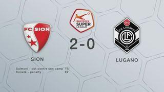 32e journée, Sion - Lugano (2-0): les buts de la rencontre [RTS]