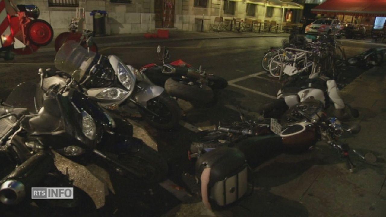 Les images de l'accident de voiture qui a fait un mort à Genève [RTS]