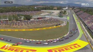 GP d'Espagne: Verstappen (NED) et Raikonnen (FIN) se touchent au départ et sont contraints à l'abandon [RTS]