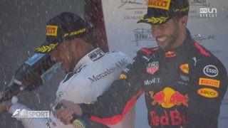 GP d'Espagne: la joie du Britannique sur le podium [RTS]