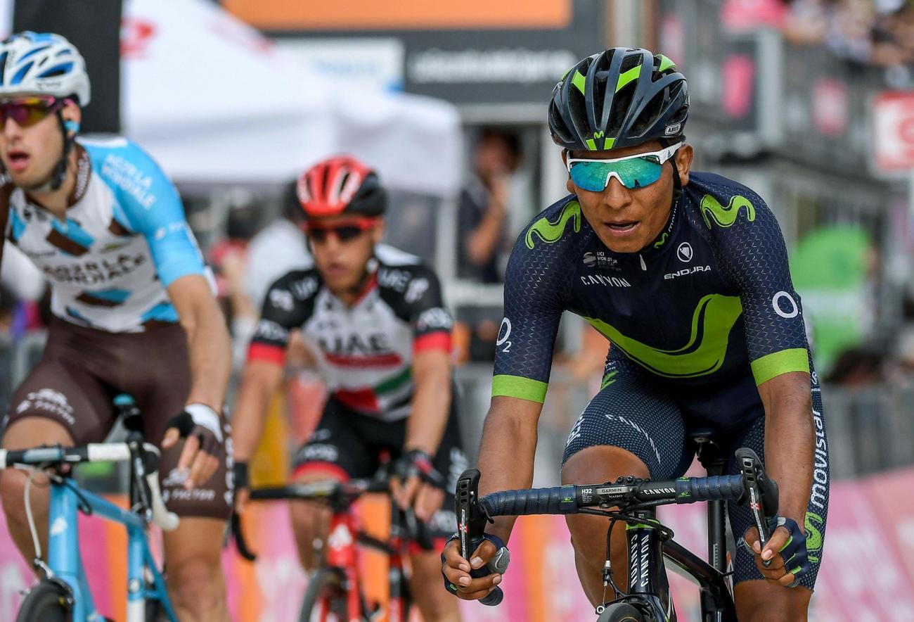 Tour d'Italie: Quintana fait coup double