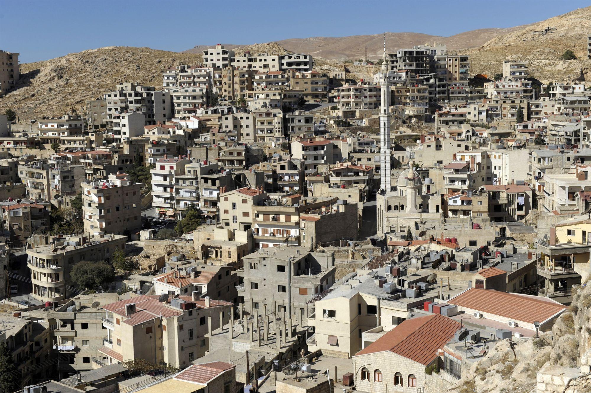 Image d'illustration. Vue du village de Saidnaya au nord de Damas. C'est dans ses environs qu'est situé le complexe pénitentiaire