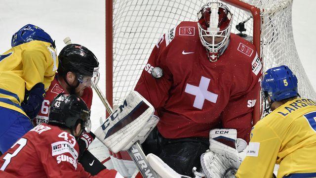 La Suisse affrontera la Suède en quarts de finale des Mondiaux (ici une rencontre en mai 2016). [AFP]