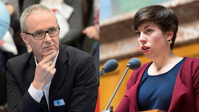 Benoît Genecand et Lisa Mazzone. [Keystone]