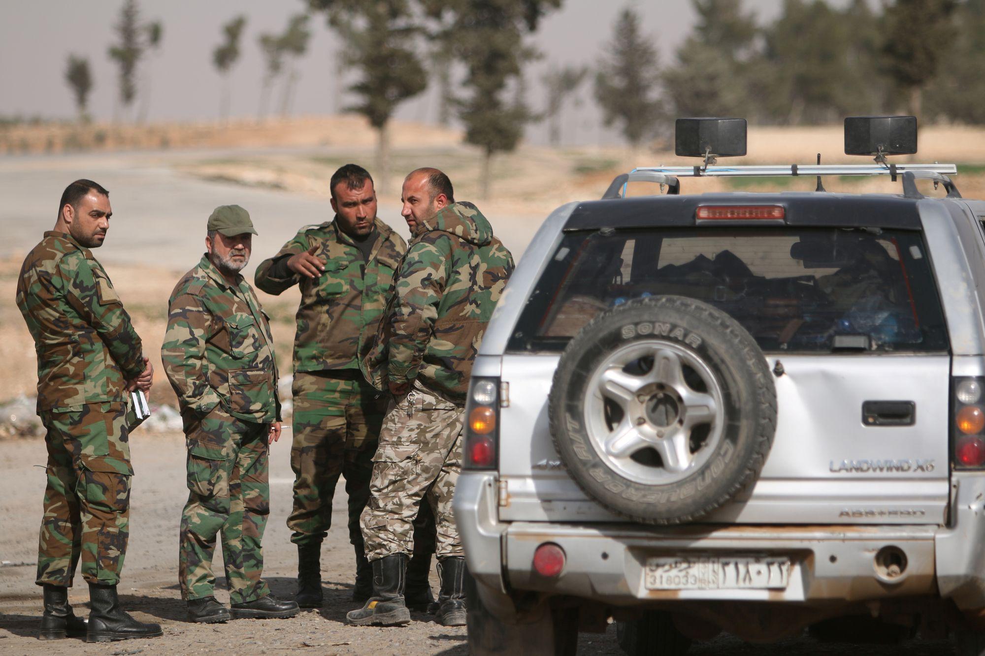 Des soldats de l'armée de Bachar al Assad