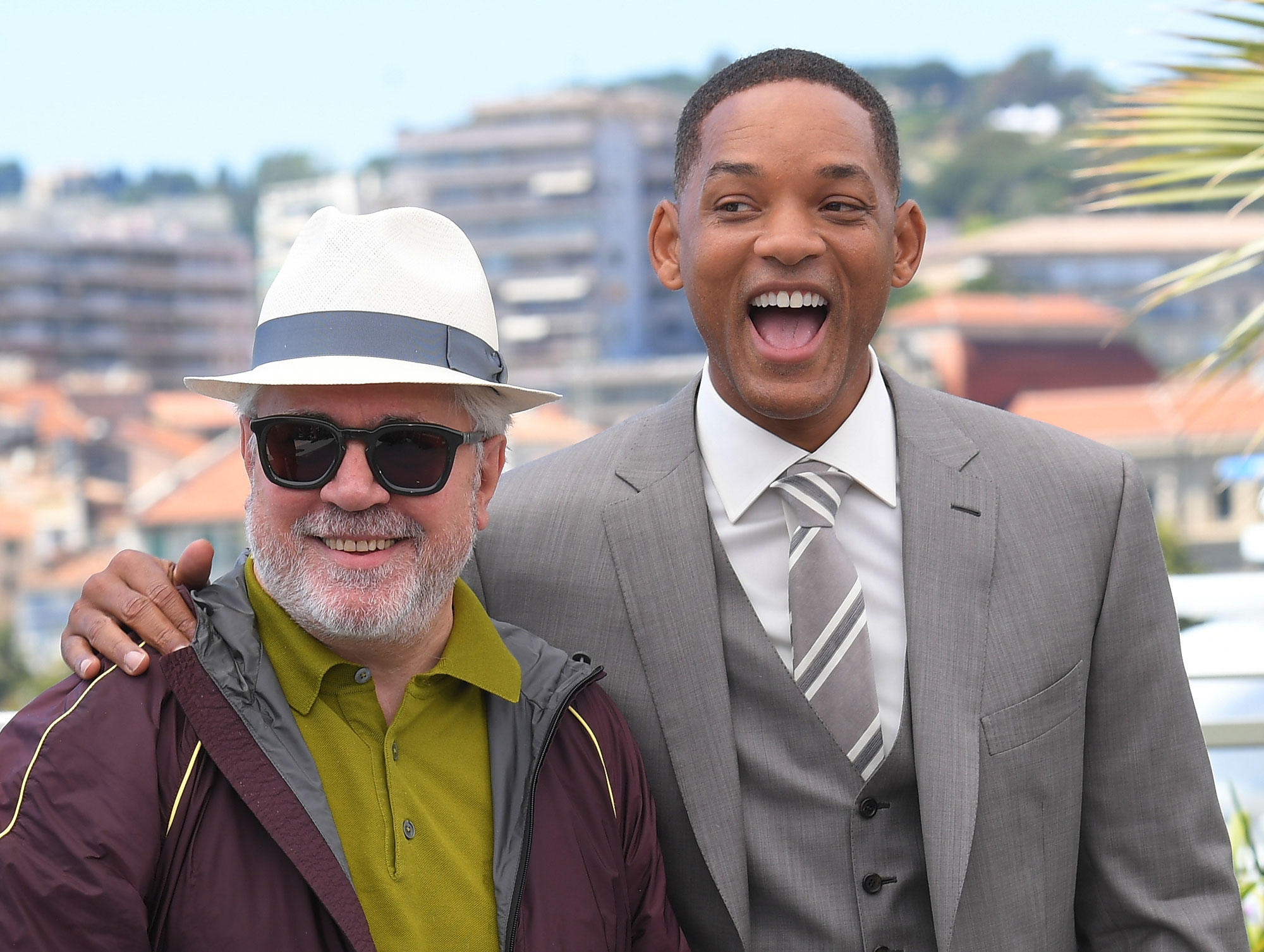 Pedro Almodovar et Will Smith au Festival de Cannes.