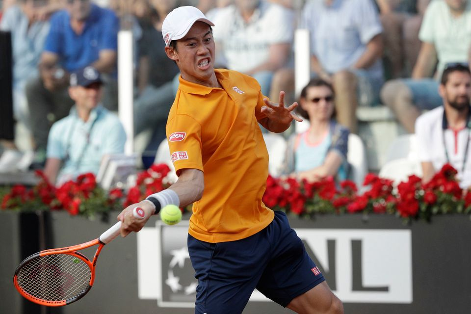 Kei Nishikori essaiera de trouver ses marques à Genève avant de rejoindre Roland-Garros. [Gregorio Borgia - Keystone]