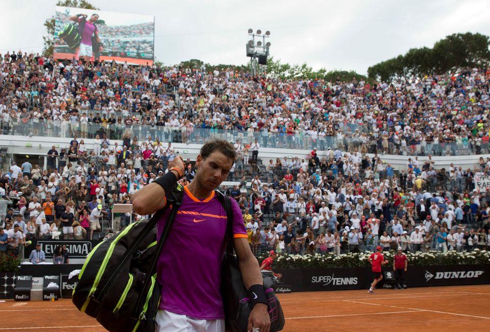 Rafael Nadal s'est fait sortir après 1h51 de jeu. [Alessandra Tarantino - Keystone]