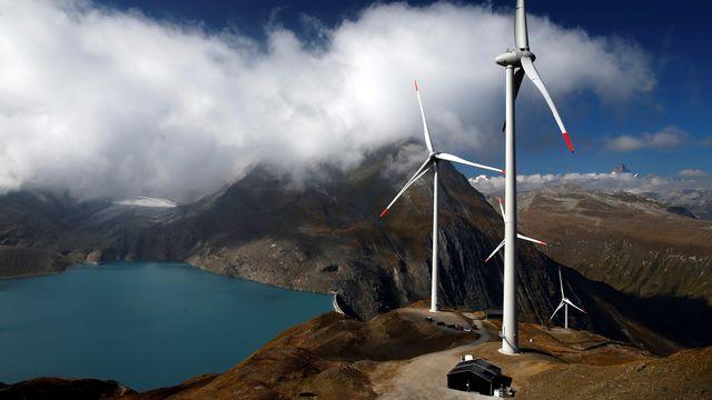 Les éoliennes du parc de Gries, le plus haut d'Europe. [Reuters]