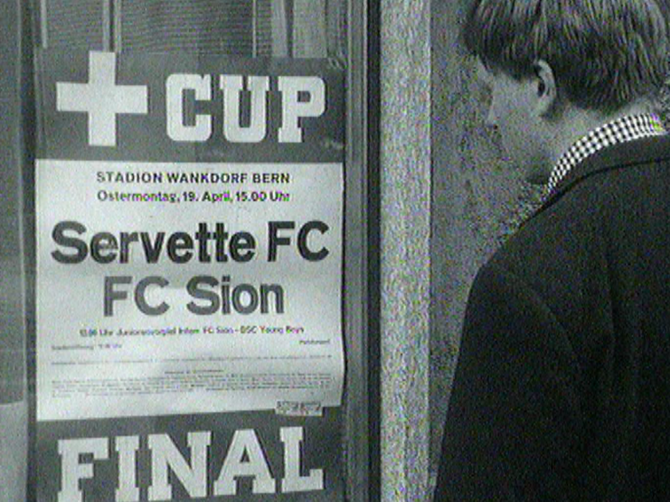 Finale de la Coupe suisse de football en 1965 entre Sion et Servette [RTS]