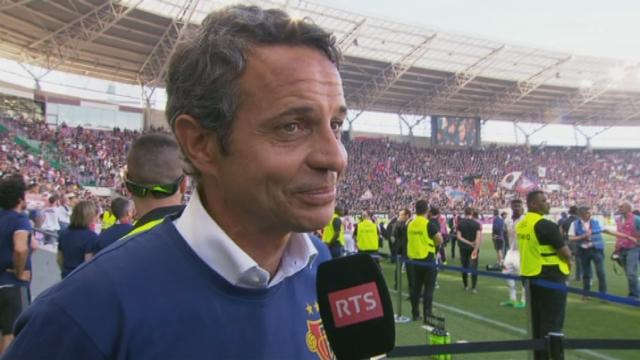 La réaction du président du FC Bâle, Bernhard Heusler [RTS]
